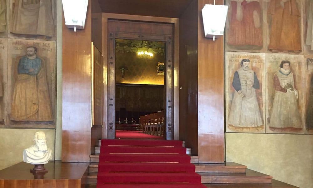 XXV congresso nazionale entomologia event planet group medical & education ingresso sala principale con affreschi antichi