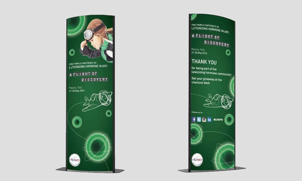 First world conference on luteinizing hormone medical & education grafica totem