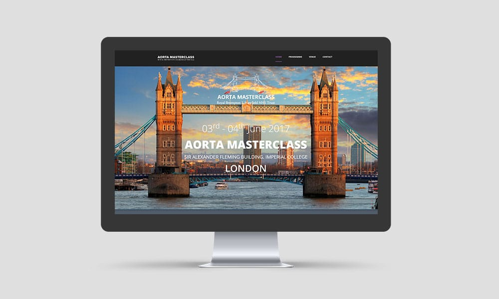 london aorta event planet medical & education grafica sito web